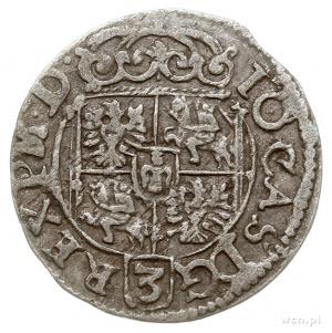 półtorak 1661, Poznań, odmiana z cyfrą 60 na jabłku kró...