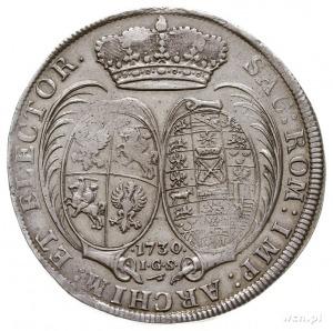 talar 1730, Drezno, Aw: Popiersie króla i napis wokoło,...