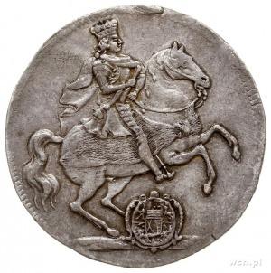 ćwierćtalar wikariacki 1711, Drezno, Aw: Król na koniu,...