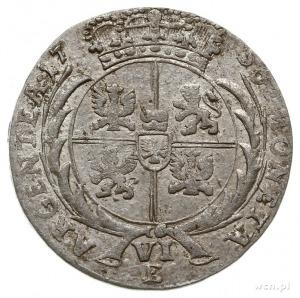 szóstak 1756, Królewiec, Aw: Popiersie Fryderyka Wielki...