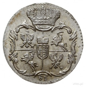 półgrosz (1/48) talara 1763, Grünthal, na awersie liter...