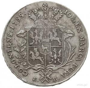 talar 1788, Warszawa, odmiana z krótszym wieńcem, srebr...