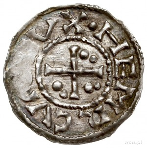 Henryk II 955-976 - 1. panowanie, denar 973-976, Ratyzb...
