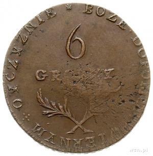 6 groszy 1813, Zamość, Plage 121, patyna, bardzo ładne ...