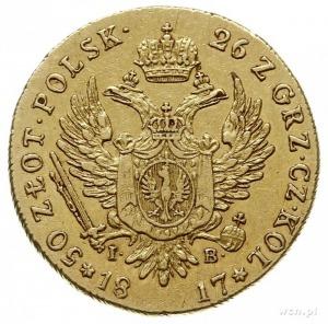 50 złotych 1817, Warszawa, złoto 9.81 g, Plage 1, Bitki...