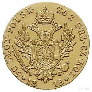 50 złotych 1818, Warszawa, złoto 9.75 g, Plage 2, Bitki...