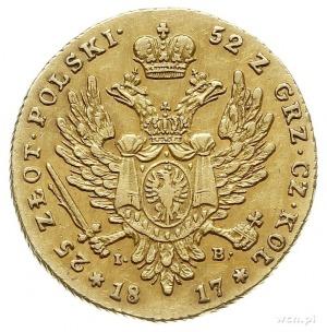 25 złotych 1817, Warszawa, złoto 4.89 g, Plage 11, Bitk...