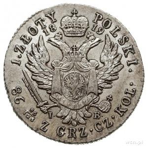 1 złoty 1819, Warszawa, Plage 64, Bitkin 843, defekt kr...