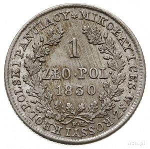 1 złoty 1830, Warszawa, Plage 73, Bitkin 999, moneta ju...