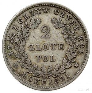 2 złote 1831, Warszawa, odmiana napisu ZLOTE i bez krop...