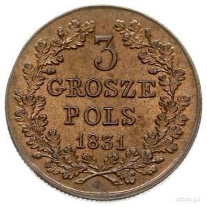 3 grosze polskie 1831, Warszawa, Iger Pl.31.1.a (R), Pl...
