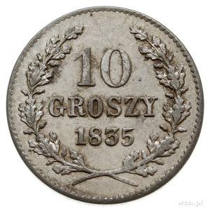 10 groszy 1835, Wiedeń, Plage 295, bardzo ładne