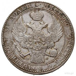 1 1/2 rubla = 10 złotych 1836, Warszawa, Plage 328 -po ...