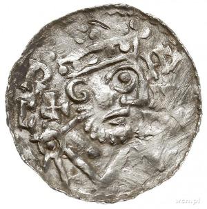 Henryk II 1002-1024, denar 1009-1024, Augsburg, Aw: Pop...