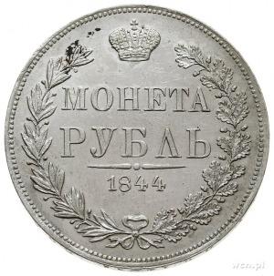 rubel 1844, Warszawa, Plage 434, Bitkin 423 -pióra w o...