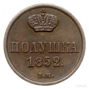 połuszka 1852, Warszawa, Plage 533 -cyfry daty szeroko ...
