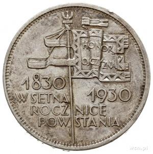 """5 złotych 1930, Warszawa, """"Sztandar"""" moneta wybita głęb..."""