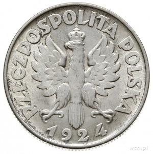 """2 złote 1924, Filadelfia, """"odwrotka"""", Parchimowicz 109...."""