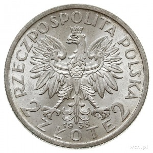 2 złote 1933, Warszawa, Głowa Kobiety, Parchimowic 110....