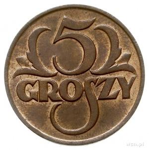 5 groszy 1925, Warszawa, Parchimowicz 103.b, piękne