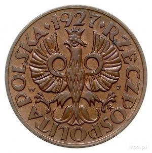2 grosze 1927, Warszawa, Parchimowicz 102.c, piękne, w ...