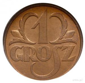1 grosz 1931, Warszawa, Parchimowicz 101.f, moneta w pu...
