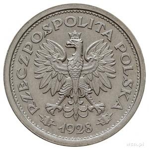 1 złoty 1928, Warszawa, Wieniec z gałązek dębowych, na ...
