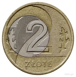2 złote 2007, Warszawa, destrukt menniczy - przesunięty...