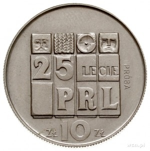 10 złotych 1969, Warszawa, 25 LECIEPRL, na rewersie wy...