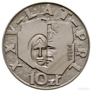 10 złotych 1969, Warszawa, XXV - LAT - PRL, na rewers...