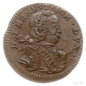 Ernest Jan Biron 1763-1769, szeląg, 1764, Mitawa, Gerba...