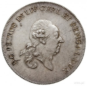 Piotr Biron 1769-1780, talar 1780, Mitawa, Aw: Głowa ks...