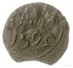 szerf 1592, Nowopole, Aw: Napis, Rw: Gryf w lewo, miedź...