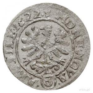 3 krajcary (grosz kiperowy) 1622, Wrocław, Aw: Jabłko k...