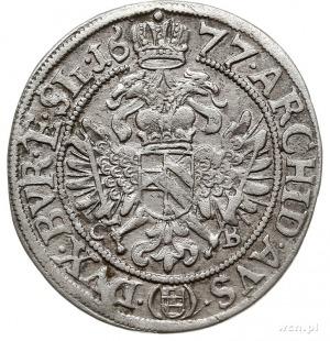 6 krajcarów 1677, Brzeg, Aw: Popiersie w prawo, wokoło ...