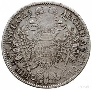 talar 1725, Wrocław, Aw: Popiersie cesarza w prawo i na...