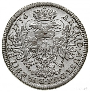 15 krajcarów 1736, Wrocław, F.u.S. 915, Herinek 650, pi...