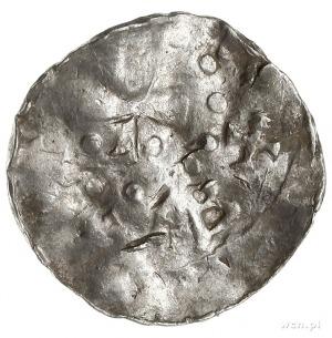 książę Bernard II 1011-1059, denar, Lüneburg, Aw: Dłoń ...
