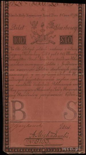 100 złotych 8.06.1794, seria A, numeracja 8103, Lucow 3...