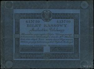 5 złotych polskich 1824, podpisy komisarzy: Bronikowski...