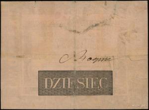 10 złotych polskich 1824, podpisy komisarzy: Małachowsk...