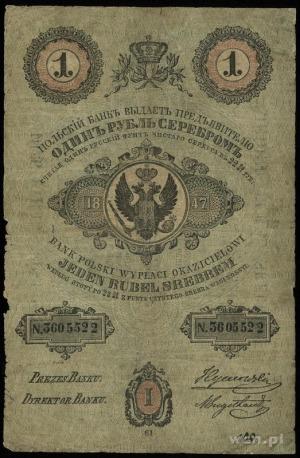 1 rubel srebrem 1847, podpisy: J. Tymowski i M. Engelha...