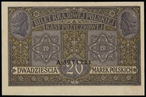 20 marek polskich 9.12.1916, jenerał, seria A, numeracj...