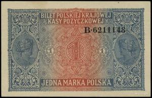 1 marka polska 9.12.1916, Generał, seria B, numeracja 6...