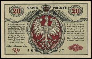 20 marek polskich 9.12.1916, Generał, seria A, numeracj...