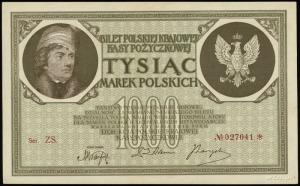 1.000 marek polskich 17.05.1919, seria ZS, numeracja 02...