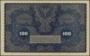 100 marek polskich 23.08.1919, seria I-D, numeracja 413...