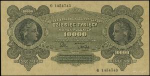 10.000 marek polskich 11.03.1922, seria G, numeracja 14...