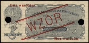 5.000.000 marek polskich 20.11.1923, obustronne nadruki...