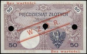 50 złotych 28.02.1919, seria A.42, numeracja 026736, po...